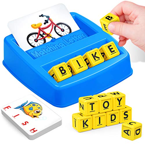 NARRIO Educational Toys for 3 4 5 Year Old Boys Gift, Matching Letter Game Preschool Learning Toys for Kids Ages 4-8 Years, Birthday Easter Gifts for 3-6 Year Old Boys Toddler Toys Age 2-4