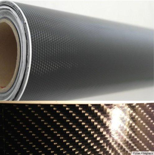 Könighaus (7,89€/m2) 4D Carbon Schwarz Folie 300 x 152 cm blasenfrei mit Anleitung (Autofolie)