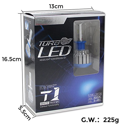 Win Power H1 LED Headlight Bulbs CREE 70W 6000K 7200LM High Beam,Low Beam,Fog Lights Cool White Conversion Kit,Canbus-2 Yr Warranty