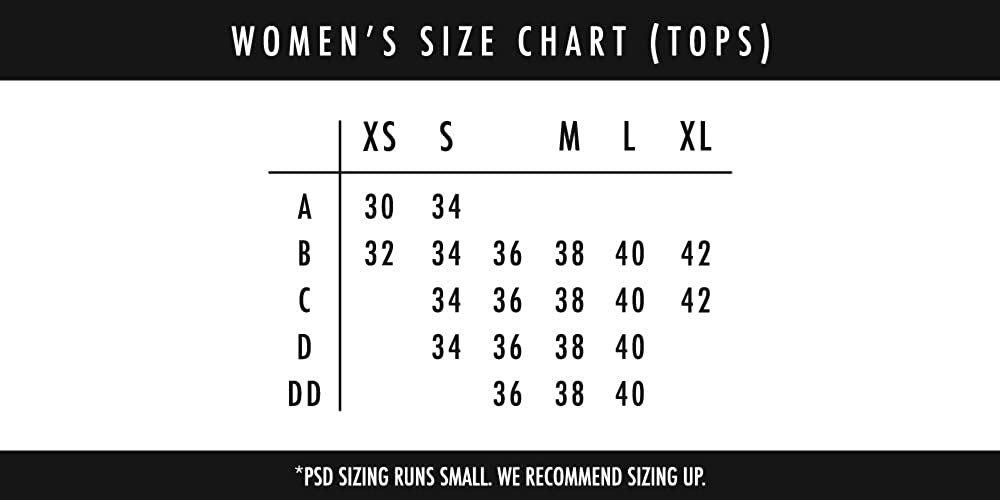 PSD Underwear Women's Sports Bra - Looney Tunes   Wide Elastic Band, Stretch Fabric, Athletic Fit  