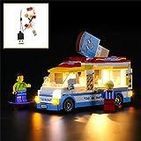 QJXF Juego De Luces USB Compatible con Lego City Helado Camión 60253, LED Light Kit para (Ice Cream Truck) De Bloques De Creación De Modelos (No Incluido Modelo)