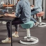aeris Swopper New Edition Ergonomischer Hocker mit Gleitern – Dynamischer Bürostuhl für einen gesunden Rücken – Vielseitiger Bürohocker und Sitztrainer – 45-59 cm Sitzhöhe, Feder Standard - 8