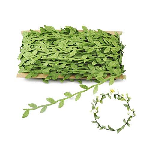 VORCOOL Buchsgirlande Künstliche Blätter Girlande für Hochzeit Party DIY Stirnbänder 40m