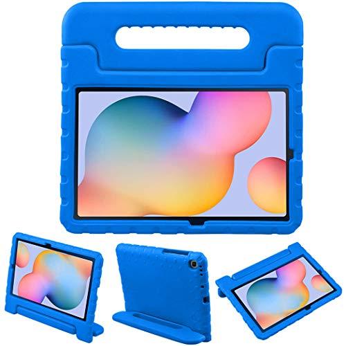 iMoshion Compatible con Samsung Galaxy Tab S6 Lite – Funda para tablet infantil – Funda para tablet Kids Case azul con asa y soporte [resistente, antideslizante y antigolpes]
