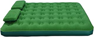 Queen Air Mattress Portable Blow Up Air Bed with Battery Pump and Two Pillows, Green