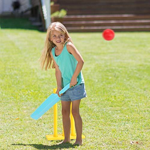 Wintesty Kinder Cricket Spielzeug Set - 1 Schläger, 2 Bälle, 1 Stümpfe - Gartenspiel, Ballspiel, Wurfspiel,Strandspiel Premium