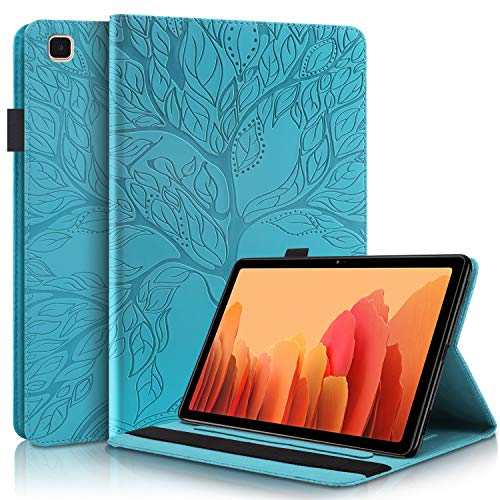 "Succtop Coque Galaxy Tab A7 10.4"" 2020, PU Cuir Cover Housse de Protection Tablette Samsung Tab A7 2020 Porte-Crayons Portefeuille Tablet Étui pour Samsung Galaxy Tab A7 T500/T505/T507, Bleu"