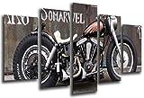Poster Fotográfico Moto Harley Davidson, Moto Antigua Vintage Tamaño total: 165 x 62 cm XXL