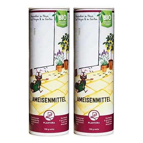 Plantura Ameisenmittel InsectoSec®, zuverlässige Bekämpfung von Ameisen & Co, geruchloses Pulver anwendbar im Haus, auf Wegen und Terrassen, 300 g