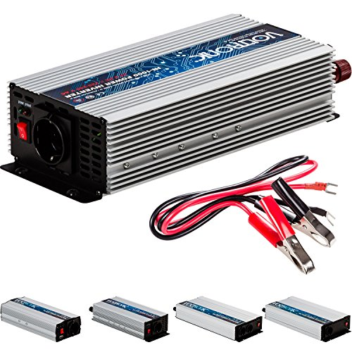 VOLTRONIC® MODIFIZIERTER Sinus Spannungswandler 1000W mit E-Kennzeichen, 24V auf 230V, USB, Stromwandler Inverter Wechselrichter Auto PKW