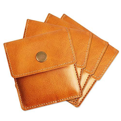 [TEMLUM] 携帯灰皿 携帯用吸殻入れ 4点セット購入 高級 PU 革 小銭入れ 携帯はい皿 おしゃれ ポケット入れ 小型 マナーを守る サイズ