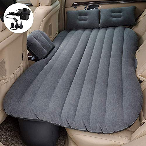 LHXD Full Set Premium Waterproof Flocked Car Air Bed Mattress with Electric Pump and Pillows