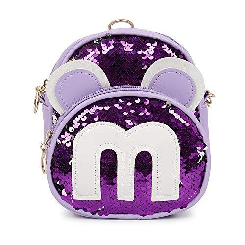 DURIAN MANGO Umhängetasche Kinder Umhängetasche Prinzessin Mode Junge Mickey Cartoon Tasche kleine einzelne Tasche Mini-Rucksack,Lila