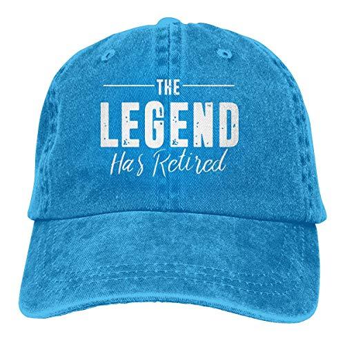 Hoswee Gorra de Béisbol Ajustable Unisex Baseball Cap The Legend Has Retired Vintage Jean Cabbie Cap for Men