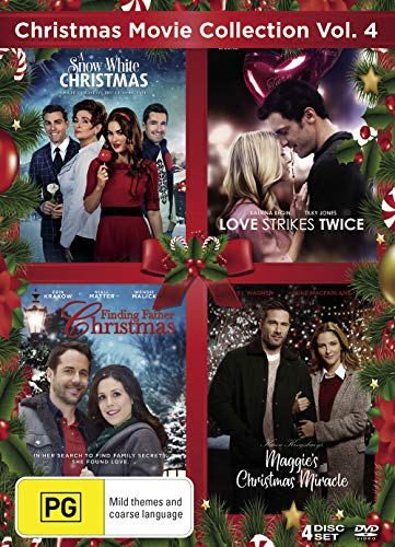 Christmas Movie Collection Vol. 4 - 4-DVD Boxset ( Love Strikes Twice / Finding Father Christmas / A Snow White Christmas / Maggie's Christmas Miracle [ NON-USA FORMAT, PAL, Reg.4 Import - Australia ]
