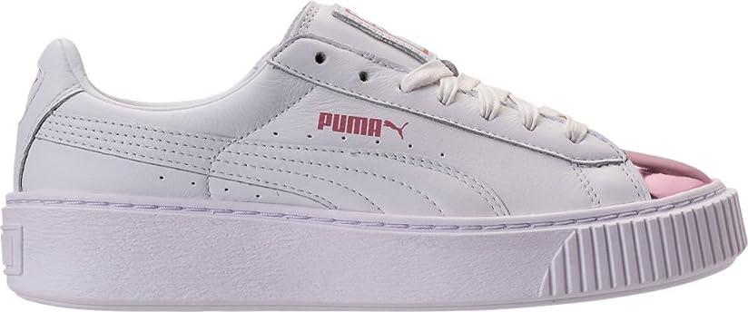 自動化ヘッジティッシュPUMA(プーマ) シューズ スニーカー Women's Puma Basket Platform Metallic Ca White/Pink 2az [並行輸入品]