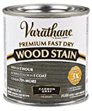 Varathane 307416 Premium Fast Dry Wood Stain, Half Pint, Carbon...