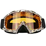 Motorcycle Motocross Dirt Bike ATV Goggles Mx OTG Goggle Glasses for Men Women Youth Kids (C83)
