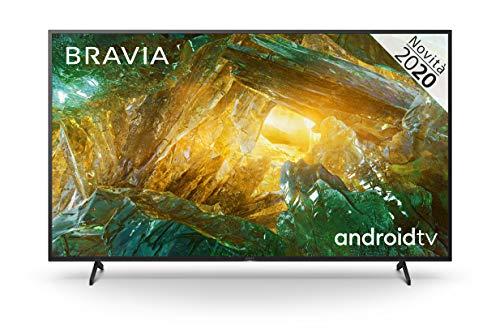 Sony KD-65XH8096 - Android TV 65 Pollici, Smart TV 4K HDR LED Ultra HD, con Assistenti Vocali Integrati, Modello 2020, Nero