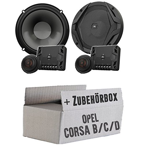 JBL GX600C | 2-Wege | 16,5cm Lautsprecher System - Einbauset für Opel Corsa B/C/D - JUST SOUND best choice for caraudio