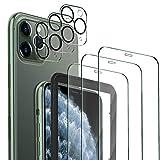 MSOVA Vetro Temperato Compatibile con iPhone 11 PRO Max, 3 Pezzi Vetro Temperato/Pellicola Fotocamera, Durezza 9H Senza Bolle Pellicola Protettiva Compatibile con iPhone 11 PRO Max 6.5