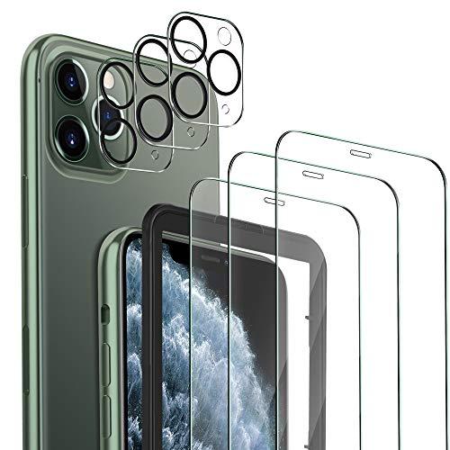 MSOVA Schutzfolie Kompatibel mit iPhone 11 Pro Max Panzerglas/Kamera Panzerglas, 3 Stück 9H Hartglas Blasenfrei Anti-Staub Anti-Öl Bildschirmfolie Kompatibel mit iPhone 11 Pro Max 6.5.