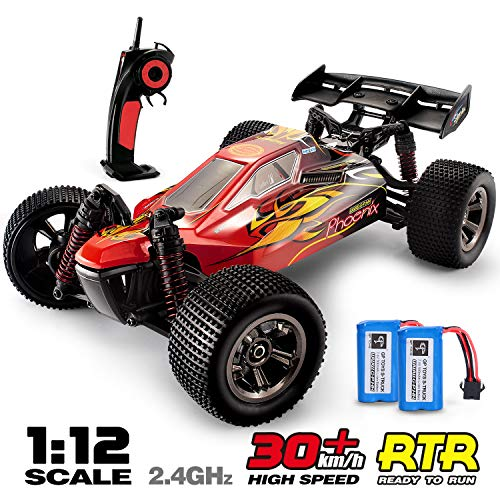 RC Trucks, GPTOYS 1:12 Scale Remote Control Car 2.4Ghz All Terrain Off-Road Hobby RC Cars, 2 Rechargeable Batteries, Toy Cars for Boys and Adults Beginner