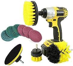 DORLIONA 10x Drill Brush Attachment Set Power Scrubber Cleaning Kit Combo Scrub Tub Clean