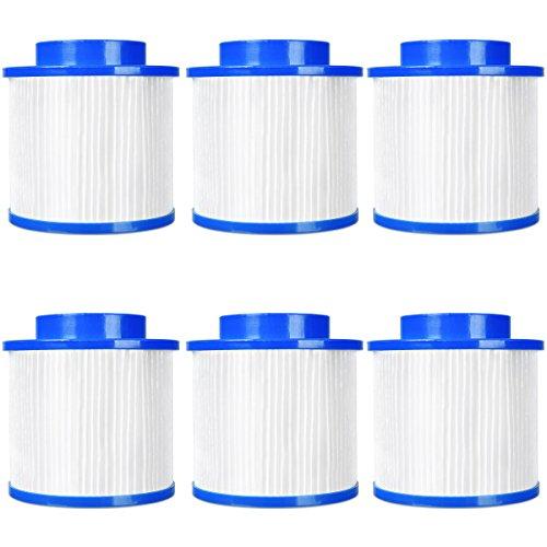 COSTWAY 6X Filter Whirlpool, Ersatzfilter Spa, Filterelement Lamellenfilter Pool Filter Filtereinsatz Filterkartusche