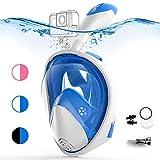 COPOZZ Vollgesichts-Schnorchelmaske für Erwachsene - 180 ° GoPro-kompatible Schnorchelmaske,...