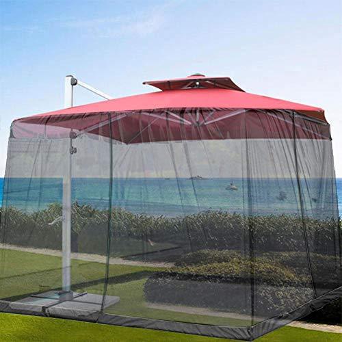 wenhe - Mosquitera para sombrilla o patio, mosquitera para exteriores, mosquitera para Gazebo, cubierta para sombrilla Patio, mosquitera resistente a los rayos UV para camping al aire libre