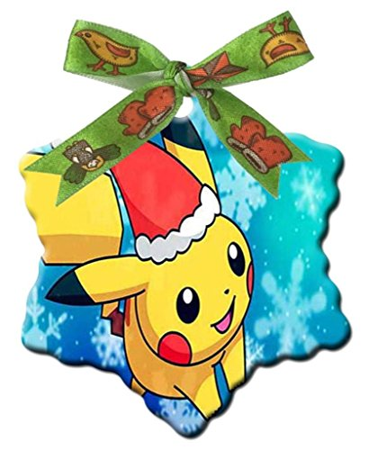 Pokemon XV Anniversary Pikachu Charzard Custom Design Fashion Snowflake - Christmas Gifts Christmas Decorations
