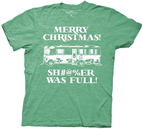 Christmas Vacation Shi#$er Was Full T-Shirt (Medium, Heather Green)