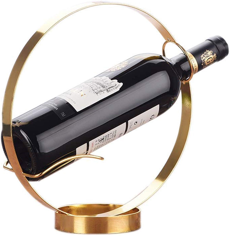 precio mas barato GQSHK Estante del Vino Europeo Europeo Europeo Creativo Estante del Vino Decoración Estante del Vino Hogar Moderno Simple Gabinete del Vino Decoración Adornos Estante del Vino A +  te hará satisfecho