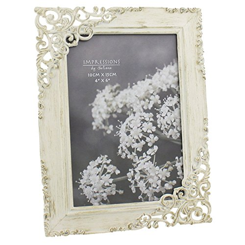 Vintage Style Ornate Cream Metal Photo Frame New Boxed by ukgiftstoreonline