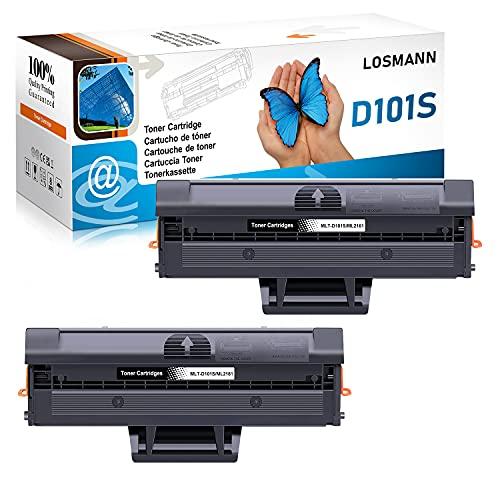 LOSMANN 2x tóner Compatible con Samsung D101S MLT-D101S ML-2161 para ML-2160 ML-2162 ML-2164 ML-2164W ML-2165 ML-2165W ML-2168 SCX-3400 SCX-3400F SCX-3401 SCX-3405 3405F SCX-3405FW