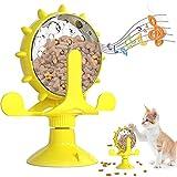 BOW CALICO Juguetes para Gatos, Juguete Interactivo para Gatos,Juguete de Gato Molino de Viento, Divertido Juguete Interactivo de Entrenamiento para Mascotas con Ventosa