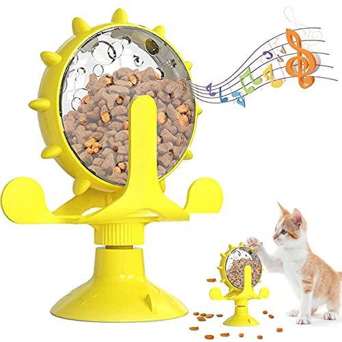 BOW CALICO Giocattoli per Gatti, Giocattolo interattivo per Gatti, Giradischi con Mulino a Vento Giocattolo per Gatti Che Prende in Giro,Divertente Gioco interattivo per Animali da Compagnia