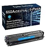 Cartucho de tóner compatible 650A CE271A para impresora láser (cian) utilizado para HP Color LaserJet M750 M750xh CP5525 CP5525dn CP5525xh (alto rendimiento)