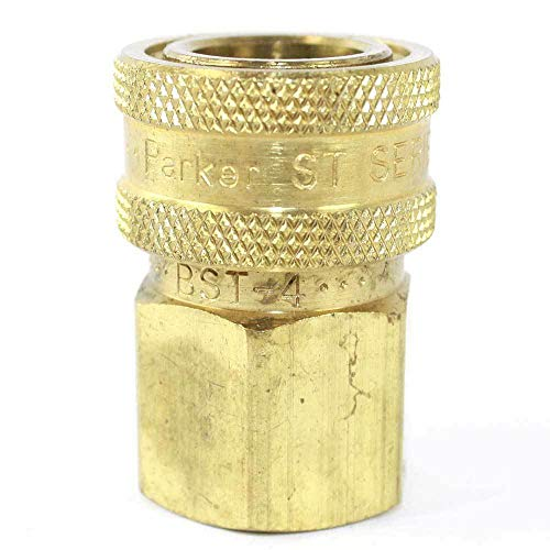 'Equipment and Tools for You' 1/2 Inch Straight Through Brass Coupler x 1/2 Inch Female NPT No Valve - CNV880B asd-1-7-261
