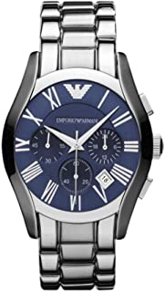 Emporio Armani Men'S Blue Dial Stainless Steel Band Watch Ar1635, Analog