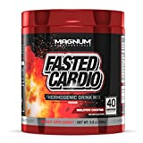 Magnum Nutraceuticals FASTED Cardio Thermogenic Energizing Fat Burner Powder - Red Candy Blast (40 Servings)