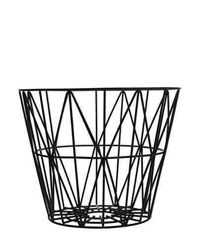 Ferm Living Wire Drahtkorb Small, schwarz Ø 40cm H 35cm