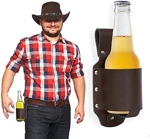 Japan Maker New 5 ☆ popular NNDQ Beer Holster Leather Bottle Holders Classic