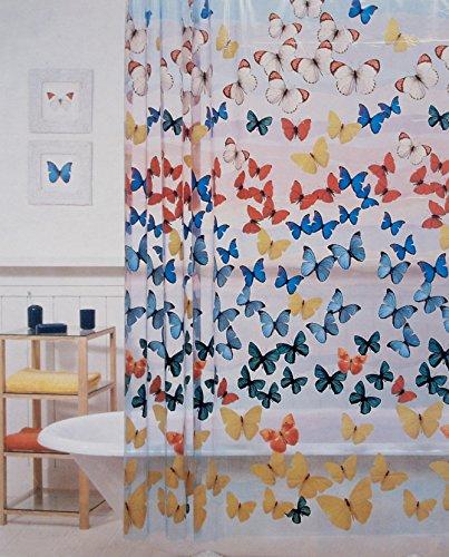 BigKitchen Allure Wings Vinyl Shower Curtain, 70 x 72 Inch