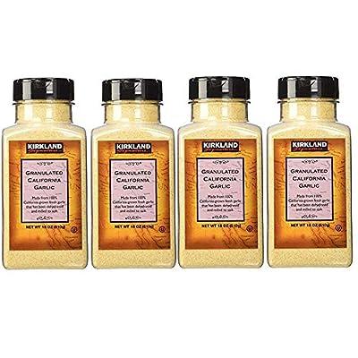 Kirkland Signature Granulated California Garlic, 18 Ounce (Pack of 4) from Costco