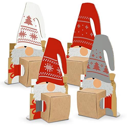 itenga Wichtelbande 4 Figuren als Geschenk oder Deko Weihnachten Deko kleine Geschenke Wichteln Karte