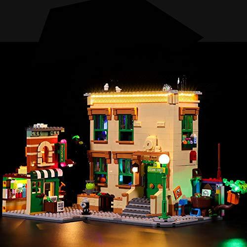 Kit de iluminación LED creativa para (123 Barrio Sésamo)Modelo de bloques de construcción,Juego de luces LED compatible con Lego 21324, regalos para juguetes para niños(No incluye el juego de Lego)