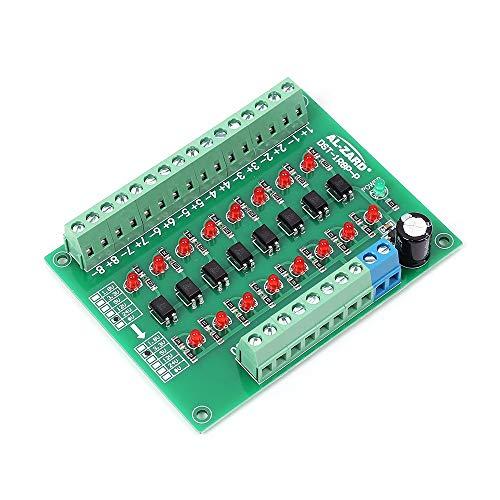 Icstation 8 Channel Voltage Level Translator PNP NPN PLC Signal Converter Module 24V to 3.3V