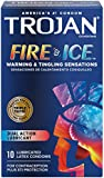 Trojan Fire & Ice Dual Lubricant Condoms 10-Count (Pack of 4)